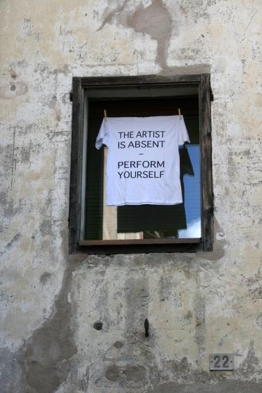 Hannes Egger, The artist is absent (Giornata del Contemporaneo), 2015